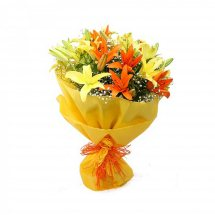 Yellow and Orange Liliums