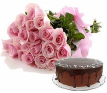 Pink Roses and Cake