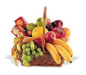 Large Basket of Fresh Fruits